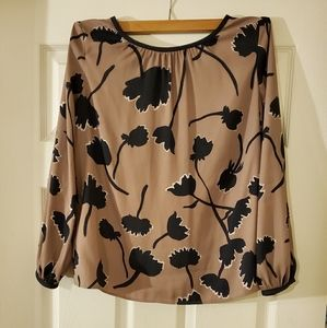 LOFT Women's Long Sleeve Flower Blouse